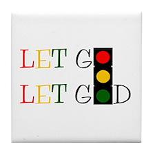 Let God Tile Coaster