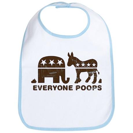 Everyone Poops Bib