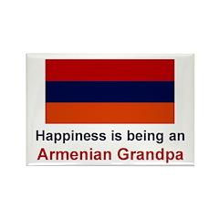Happy Armenian Grandpa Rectangle Magnet
