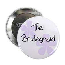 The Bridesmaid Lilac Flowers Button