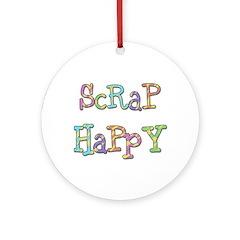 Scrap Happy Ornament (Round)