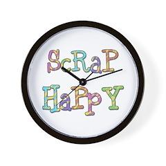 Scrap Happy Wall Clock