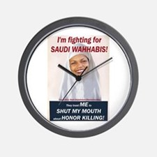 Condi Rice - Honor Killing Apologist Wall Clock