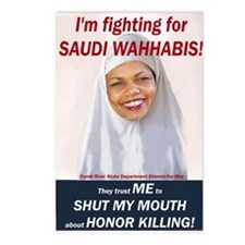 Condi Rice - Honor Killing Apologist Postcards (Pa