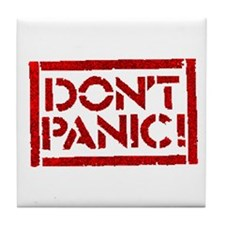 Hitchhiker - Don't Panic! Tile Coaster