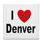 I Love Denver Tile Coaster