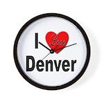 I Love Denver Wall Clock