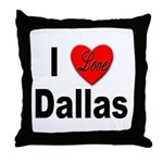 I Love Dallas Throw Pillow