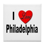 I Love Philadelphia Tile Coaster