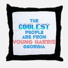 Coolest: Young Harris, GA Throw Pillow
