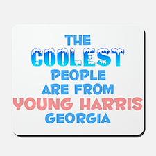 Coolest: Young Harris, GA Mousepad