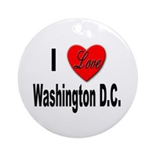 I Love Washington D.C. Keepsake (Round)
