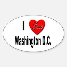 I Love Washington D.C. Oval Decal