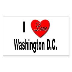I Love Washington D.C. Rectangle Decal