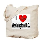 I Love Washington D.C. Tote Bag