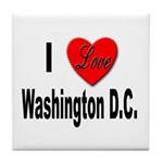 I Love Washington D.C. Tile Coaster