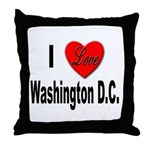 I Love Washington D.C. Throw Pillow