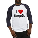 I Love Washington D.C. (Front) Baseball Jersey