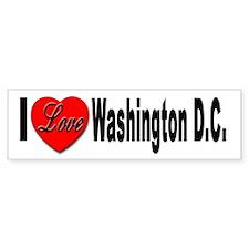 I Love Washington D.C. Bumper Bumper Sticker