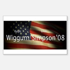 Wiggum / Simpson for President Rectangle Decal