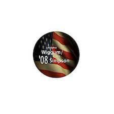 Wiggum / Simpson for President Mini Button