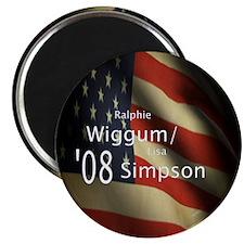 "Wiggum / Simpson for President 2.25"" Magnet (10 pa"