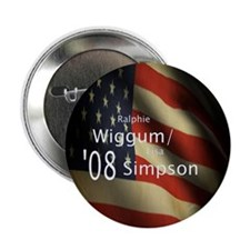 "Wiggum / Simpson for President 2.25"" Button (10 pa"