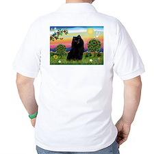 Schipperke in Bright Country T-Shirt