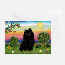 Schipperke in Bright Country Greeting Cards (Packa