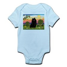 Schipperke in Bright Country Infant Creeper
