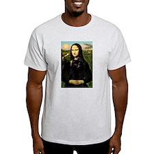 Mona Lisa & Schipperke Ash Grey T-Shirt