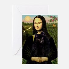 Mona Lisa & Schipperke Greeting Cards (Package of