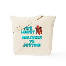 This Heart: Justine (B) Tote Bag