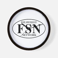 FSN Fox Swimsuit Network Wall Clock