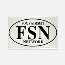 FSN Fox Swimsuit Network Rectangle Magnet