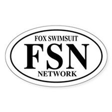 FSN Fox Swimsuit Network Oval Decal