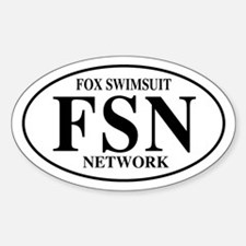 FSN Fox Swimsuit Network Oval Decal