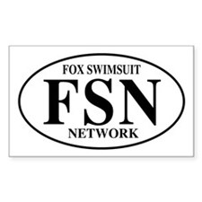 FSN Fox Swimsuit Network Rectangle Decal
