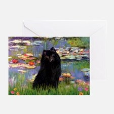 Lilies & Schipperke Greeting Cards (Pk of 10)