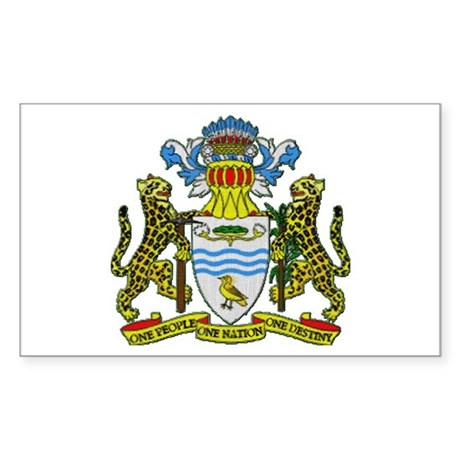 Guyana Coat of Arms Rectangle Sticker
