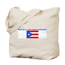 MADE IN US WITH PUERTO RICAN  Tote Bag