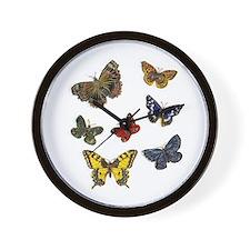 Butterfly 9 Wall Clock