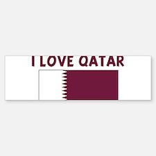 I LOVE QATAR Bumper Bumper Bumper Sticker