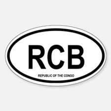 Republic of the the Congo Oval Decal