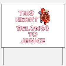 This Heart: Janice (C) Yard Sign