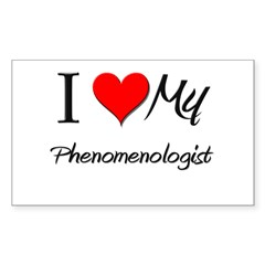 I Heart My Phenomenologist Rectangle Decal