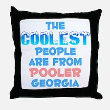 Coolest: Pooler, GA Throw Pillow
