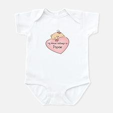 Heart Belongs to Papaw Infant Bodysuit