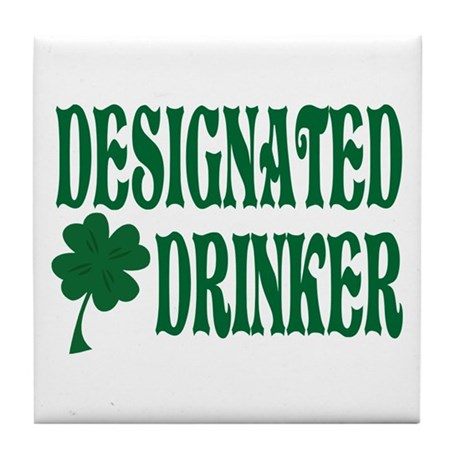 Designated Drinker Irish Tile Coaster