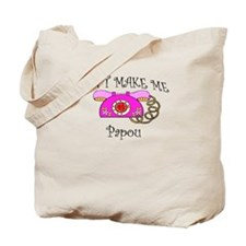 Call Papou with Pink Phone Tote Bag